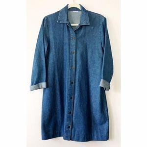 Vintage 80s Denim Chore Coat M